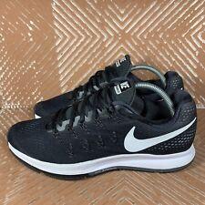 Nike Air Zoom Pegasus 33 Black/White Women's 11 Running Shoes 831356-001