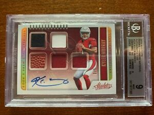 2019 Absolute Kyler Murray RC Premiere Materials Relic Auto Card  3/5  BGS 9