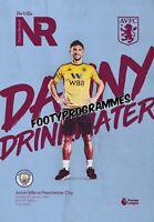 Aston Villa v Manchester City 2019/20 Premier League Programme. Free Uk Post