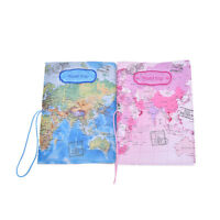 PU Leather World Map Passport Holder Travel Card Case Document Cover JX