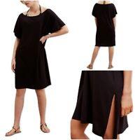 Ex The White Company Women's Black Poolside Kaftan Summer Beach Dress RRP £59