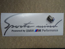 "Sports Mind BMW M Performance (12"") Bonnet Side decal Autocollant (argent) 300 mm"