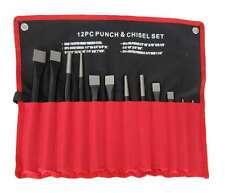 Ponche de 12pc y conjunto de cincel frío Pasador Cónico centro Punzones en herramienta Roll-Hilka