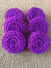 6 Dark Purple -  NYLON NET POT SCRUBBIES