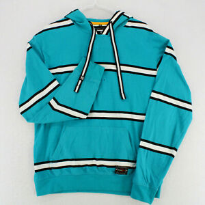 SOUTHPOLE Teal White Striped L/S Hoodie Sweatshirt Pullover Youth Boys XL