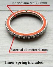 Vostok watch Orange bezel custom Amphibia & Komandirskie Stainless steel+Insert