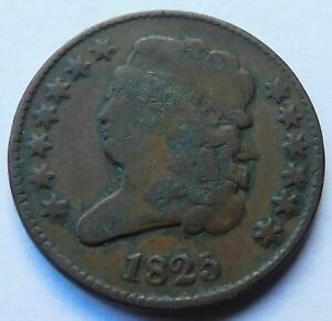 1825 Classic Head Half Cent, Early Date 1/2C