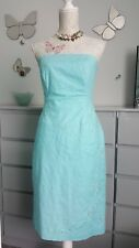 Jane Norman pastel mint green dress 14 Embroidered Embellishments lined ex...