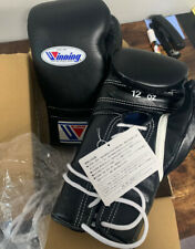 Winning Boxing Gloves Black 12 Oz Lace Up Japan Authentic MS-400 Cleto Mike Tyso