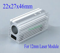 22x27x46mm Aluminum Radiator Heatsink for 12mm Laser Module with Screws Silver