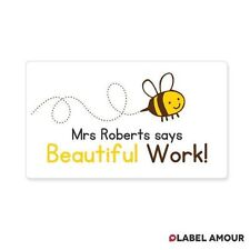 65 PERSONALISED STICKERS Teacher Reward Labels Stickers | Busy Bee