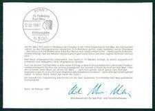 BRD MINISTERKARTE 1987 KARL MAY WINNETOU INDIANER INDIAN MINISTER CARD RAR h2647