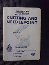 """Vintage 1943 Crafts for Service Personnel """"Faites votre propre"""" série TRICOT & COUTURE"""