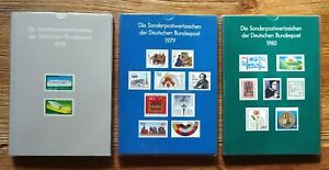 Bund + Berlin Jahrbuch 1978,1979 + 1980 postfrisch 3 Jahreszusammenstellungen
