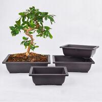 1/2/3/5x Plastic Flower Pot Balcony Bonsai Succulent Plant Bowl Planter Nursery