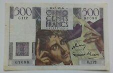 France. 500 Francs Chateaubriant 3-7-1952 TTB