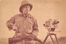 GUS PEROT BIG GAME HUNTER GUN MOVIE CAMERA PETERS CARTRIDGE ADVERTISING POSTCARD