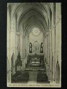 Channel Island JERSEY St. Helier EGLISE ST. THOMAS c1920 Postcard by E.L.