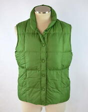 LANDS' END Green Goose Down Puffer Vest Sleeveless Jacket Youth Kid Size S 6 - 8