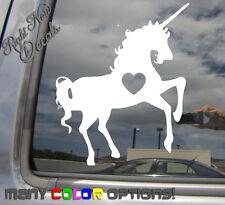 Unicorn Heart Love - Auto Window High Quality Vinyl Decal Sticker 06008