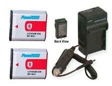 Two Batteries + Charger for Sony DSC-W100 DSC-W100/B DSC-W110 DSC-W115 DSC-W120