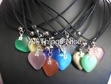 CATS EYE Gemstone Glass 20mm LOVE HEART Pendant Necklace Jewellery WHOLESALE 10