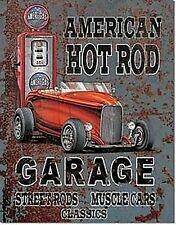 Amerikanisch Hot Rod Garage Metall Zeichen (De) Kostenlose UK Versand