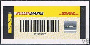 Rollenservicemarke Nr. 5  DHL  Hologramm  Weltkarte