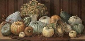 Fall Pumpkins and Gourds Print Tuscany Harvest by Janet Kruskamp