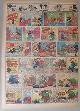 Mickey Mouse Sunday Page by Walt Disney from 12/16/1945 Tabloid Page Size