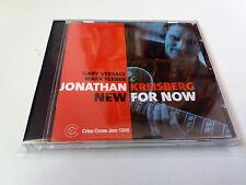 "JONATHAN KREISBERG TRIO ""NEW FOR NOW"" CD 8 TRACKS COMO NUEVO GARY VERSACE MARK F"