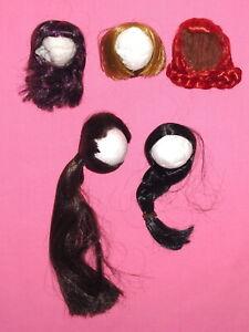 LOT of 5 Fashion Doll WIGS - Fits Numina - Size 4½