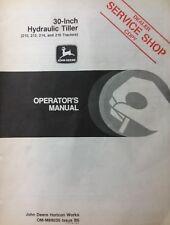 John Deere 30 Hydraulic Tiller 210 212 214 216 Lawn Garden Tractor Owners Manual