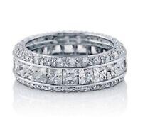 Channel Set Eternity Ring Sterling Silver Aaaa Cubic Zirconia