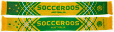 Australia Socceroos Apex Jacquard Reversible Gold & Green Scarf! World Cup!