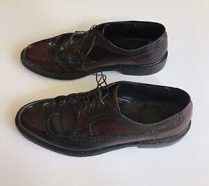 Hanover Wing Tip Cordovan Dress Shoes Burgundy 11 1/2 LB Sheppard