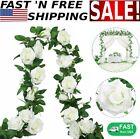 7.5 Ft  Garland Wall Silk Artificial Hanging Rose Flowers Vine Wedding Decor USA