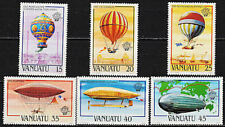 VANUATU (Ex:New Hebrides) 1983 -366 to371 200TH ANNIVERSARY OF AVIATION - (MNH)