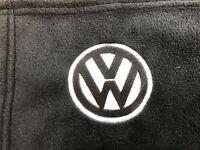 Black Fleece Blanket with Embroidered VW Logo, T4, Campervan, Golf, T5, T6 VDUB