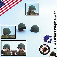 2x CASCO AMERICANO 2 GUERRA MUNDIAL USA HELMET WW2 PLAYMOBIL SOLDADO SOLDIER