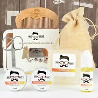 Beard Care XL Kit   Beard Oil, Balm, Wax, Soap, Scissors, Comb   Orange Bergamot