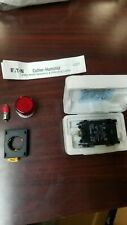 Eaton Cutler Hammer EM22H2X433 Red LED Push Button with E22TL1 Transformer New