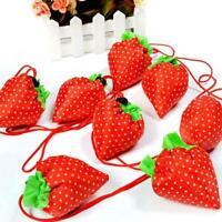 Reusable Eco Strawberry Storage Bag Handbag Foldable Shopping Bags High quality