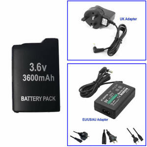 3.6V Battery Or AC Power Adapter Charger for SONY PSP 1000 1001 1002 1003 1004