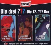 DIE DREI ??? - 12-FOLGEN 34-36 (DER ROTE PIRAT/HÖHLENMENSCH/SUPER-WAL) 3 CD NEU