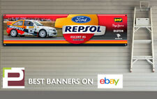 Ford Escort REPSOL RS Cosworth Rally Car Banner for Workshop, Garage, Office,