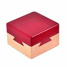 Wooden Magic Puzzle Brain Teaser Lock Box for Intelligence Games