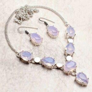 Opalite Ethnic Handmade Necklace+Earrings Jewelry 25 Gms AN 94754