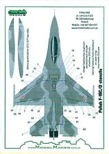 Model Maker Decals 1/48 Polish Air Force F-16C/D FIGHTING FALCON STENCILS & DATA