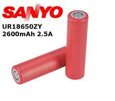 Sanyo/Panasonic UR18650ZY 2600mAh 2.5A senza pin ORIGINALE Batteria Ricaricabile